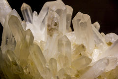 Quartz crystals. Close up photo of quartz crystals Royalty Free Stock Photos