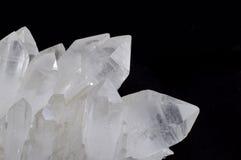 Quartz crystals closeup Stock Photography