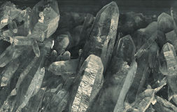 Quartz crystals Stock Photography