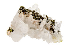 Quartz crystals on host rock Stock Image