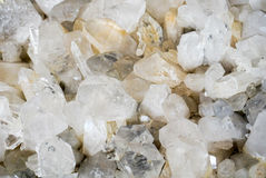 Quartz Crystals. An up close view of a collection of Quartz Crystals stock image