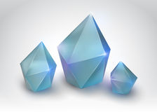 Quartz crystals. (Vector illustration of a realistic gemstone Royalty Free Stock Image