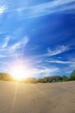 Quartz de sable de lever de soleil Photos libres de droits