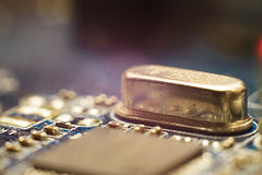 Quartz electronic component Royalty Free Stock Images