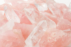 Quartz et cristal de Rose Images stock