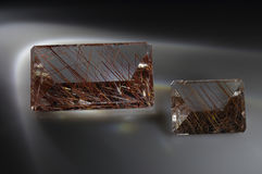 Quartz with rutile Royalty Free Stock Photos