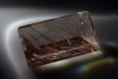 Quartz with rutile Royalty Free Stock Images