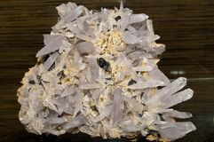Quartz and Sphalerit Cluster Royalty Free Stock Photo
