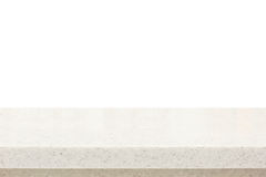 Quartz stone countertop on white background Stock Images