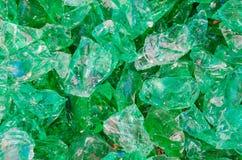 Quartz stone, glass rocks in green Royalty Free Stock Photos