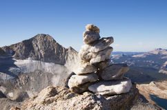 Quartz Summit Cairn Stock Image