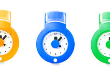 Quartz watch on the  wall Royalty Free Stock Photo