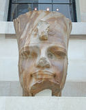 Quartzite Head Of An Egyption Pharoah Stock Photo