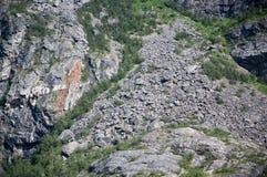 Quartzite mountain side Stock Photos