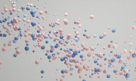 Quartzo cor-de-rosa do fundo dos doces da cor pastel, fundo pastel bonito Imagem de Stock Royalty Free