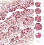 Quartzo de Rosa com artbrushes Fotografia de Stock