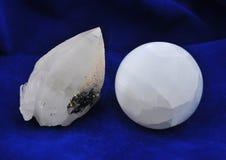 Quartzo do único cristal Imagem de Stock
