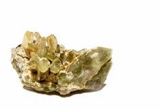 Quartzo verde do clorito (quartzo de Prase) Foto de Stock