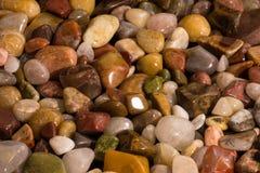 Quarz-Achat Jasper Pebbles Rocks Polished Detail Stockfoto