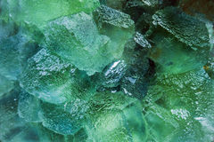 Quarz crystals illuminated with monocromatic light Royalty Free Stock Photo