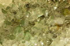 Quarz kryształy Zdjęcie Stock