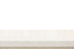 Quarz Steincountertop auf weißem Hintergrund stockbilder