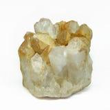 Quarzo di cristallo su fondo bianco Immagine Stock Libera da Diritti