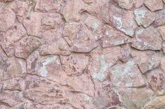 Quarzo rosa di vecchia tonalità della parete di pietra Fotografie Stock