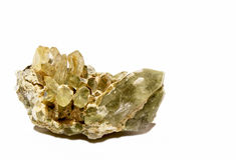 Quarzo verde della clorite (quarzo di Prase) Fotografia Stock