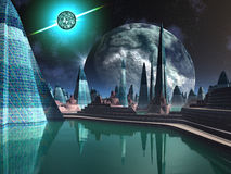 Quasar City Stock Photo