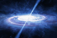 Quasar in deep space Royalty Free Stock Photos