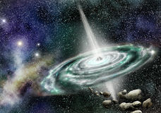 Quasar galaxy Stock Photo