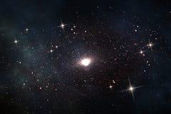 Quasar im Weltraum Lizenzfreies Stockfoto