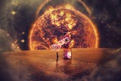 Quasar telekinezja royalty ilustracja