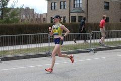 Quase 30000 corredores participaram na maratona de Boston o 17 de abril de 2017 em Boston Fotos de Stock Royalty Free