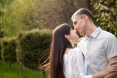 Quasi bacio Fotografia Stock Libera da Diritti