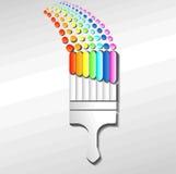 Quaste-Regenbogen Stockfoto