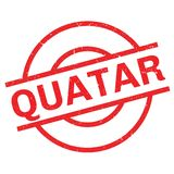 Quatar rubber stamp Stock Photography