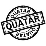 Quatar rubber stamp Royalty Free Stock Photo