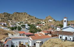 Quater of caves apartments in Guadix spain Royalty Free Stock Photos