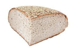 Quater loaf of rye bread Royalty Free Stock Photo