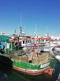 Quatiera Fishing Harbour - Parked boats royalty free stock image