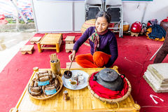 QUATLAM NATIONAL COUNTRYSIDE CUISINE FESTIVAL, NAMDINH, VIETNAM - DECEMBER 7, 2014 - Special  Royalty Free Stock Photography