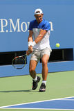 Quatorze campeões Rafael Nadal do grand slam das épocas da Espanha praticam para o US Open 2015 Fotos de Stock Royalty Free