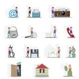 Quatorze ícones não padronizados Imagens de Stock