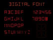 Quatorze indicateurs de segment, police de Digital illustration libre de droits