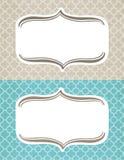 Quatrafoil Background Frames. Set of frames with a textured, linen quatrafoil background Royalty Free Stock Images