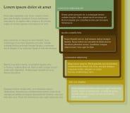 Quatre éléments consécutifs de cadre avec un bon nombre de pièce pour le texte et les descriptions illustration stock