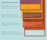 Quatre éléments consécutifs de cadre avec un bon nombre de pièce pour le texte et les descriptions Photos stock