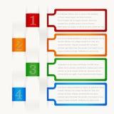 Quatre éléments consécutifs de cadre avec un bon nombre de pièce pour le texte et les descriptions illustration libre de droits